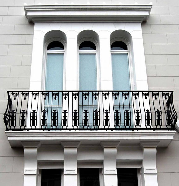 Decorative metal balcony