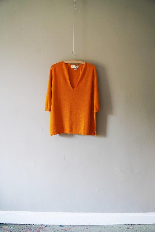 Short Cashmere Kaftan