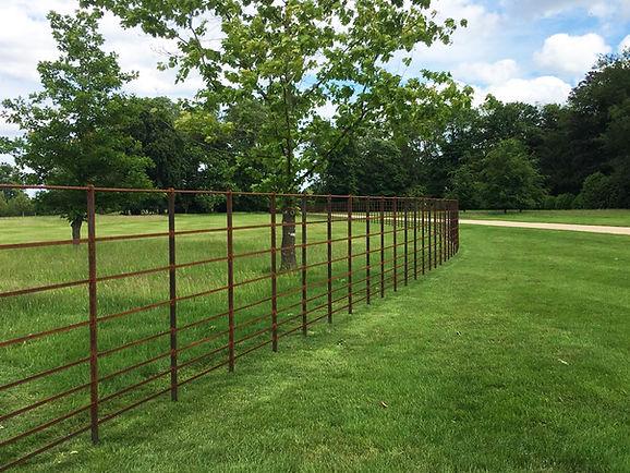 Bare metal deer fencing