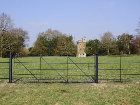 Diagonal Bar Field Gate