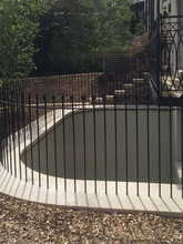 Core drilled and installed fabricated mild steel railings – Hampstead London