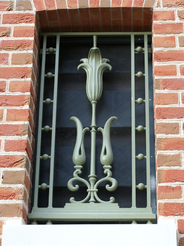 Completely bespoke cast iron decorative grating.