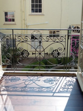 Cast iron Juliet balcony – this is one of our most popular patterns examples of it can be seen from Cheltenham to Belgravia.