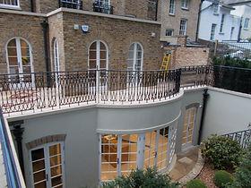 Mezzanine metal balcony