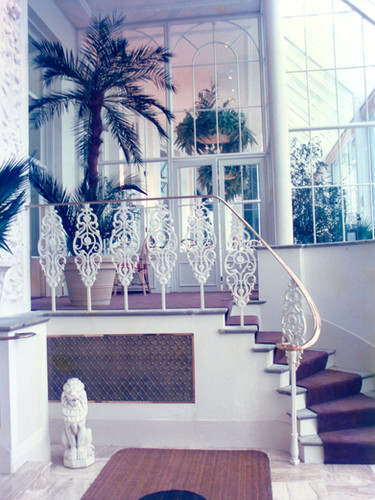 Bespoke cast iron balustrade with polished brass bevelled handrail from the archive.