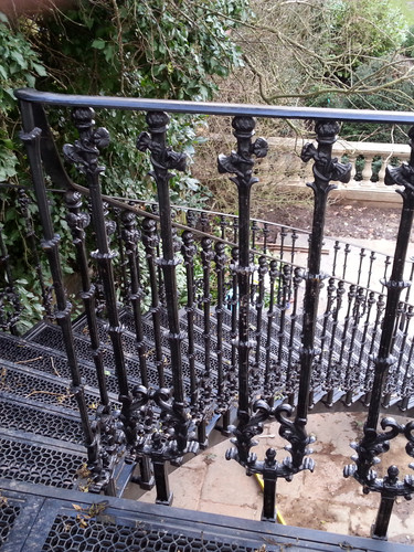 A curved staircase – this all-cast iron example was a serious engineering challenge, but the results speak for themselves. Incorporating beautiful Victorian cast iron patterns.