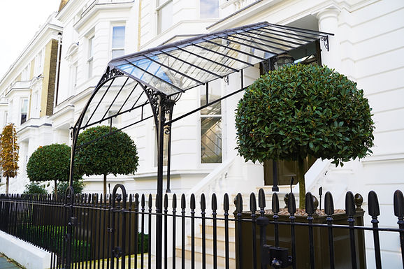 Architectural metal canopy