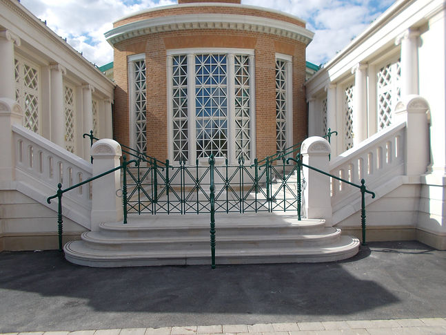 Metal painted balustrades