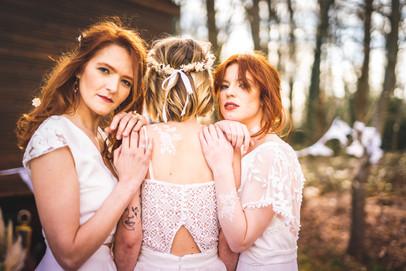 Trio de mariées