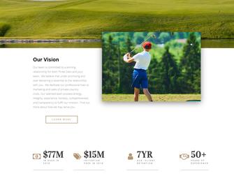 Screen shot of the Three Oaks site.