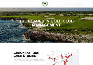 A screen shot of Three Oaks's homepage