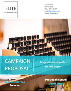 An over 50 page proposal that included a detailed profile on the target audience's wants and needs that was backed by first and second hand research. From this I was able to propose a five part integrated marketing tatctics campaign that included video, social media, brand ambassadors, and PR magazine ideas.