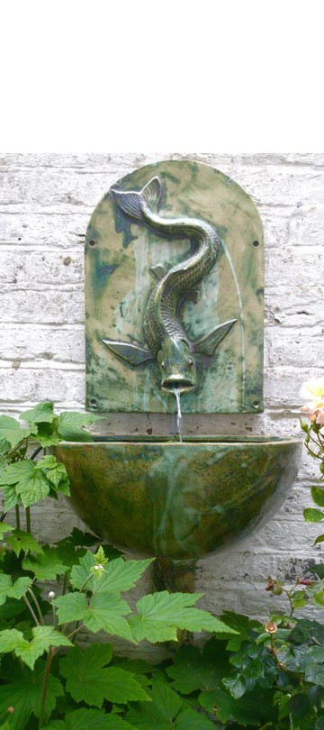 FISH WALL FOUNTAINHEAD AND BOWL