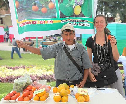 Julie et producteur, Mission Pérou - I FEED GOOD