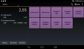 Davčn blagajne Android screenshot