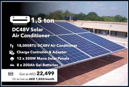 1.5-Ton 100% Off-grid Solar Air Conditioner