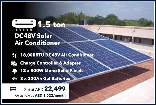 1.5-Ton 100% Off-grid Solar Air Conditioner