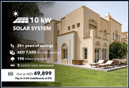 10kW On-grid Solar System (Turnkey Solution by Sharaf DG with no extra project expenses on the Client)