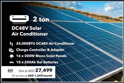 2-Ton 100% Off-grid Solar Air Conditioner