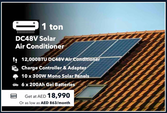 1-Ton 100% Off-grid Solar Air Conditioner