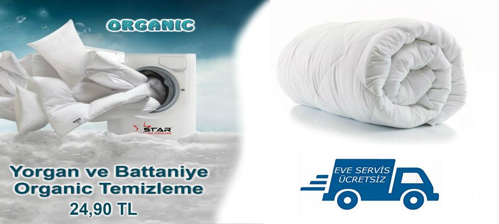 Yorgan ve Battaniye Organic Temizleme 24,90 TL