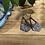 Thumbnail: Silver and Blue Dangle Earrings