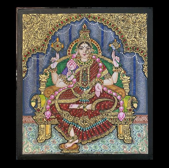 Lakshmi in Mysore Painting