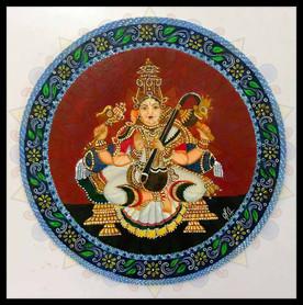 Saraswati - Ganjifa