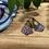 Thumbnail: Blue Green and Gold Dangle Earrings