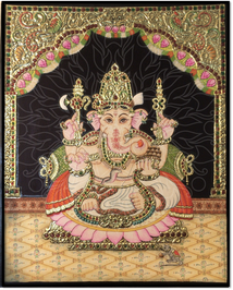 Ganesha in Tanjore Painting