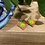 Thumbnail: Green and Yellow Square Earrings