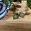 Thumbnail: Green Square Earrings