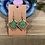 Thumbnail: Green and Red Square Earrings