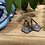 Thumbnail: Blue and Silver Dangle Earrings