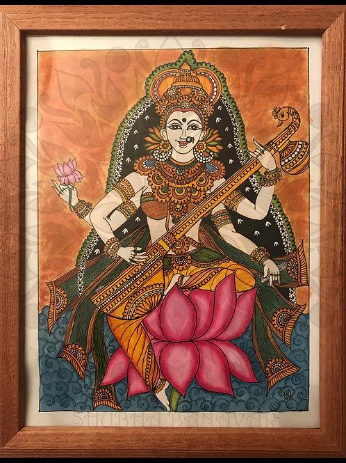Saraswati on lotus