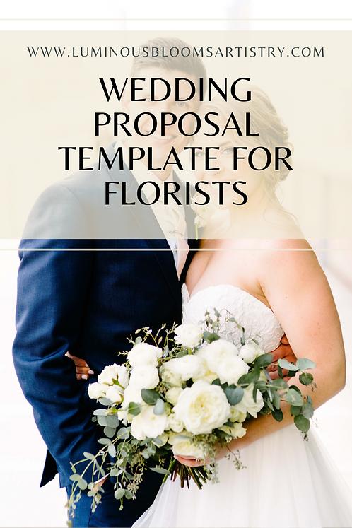 Wedding Florist Proposal Template