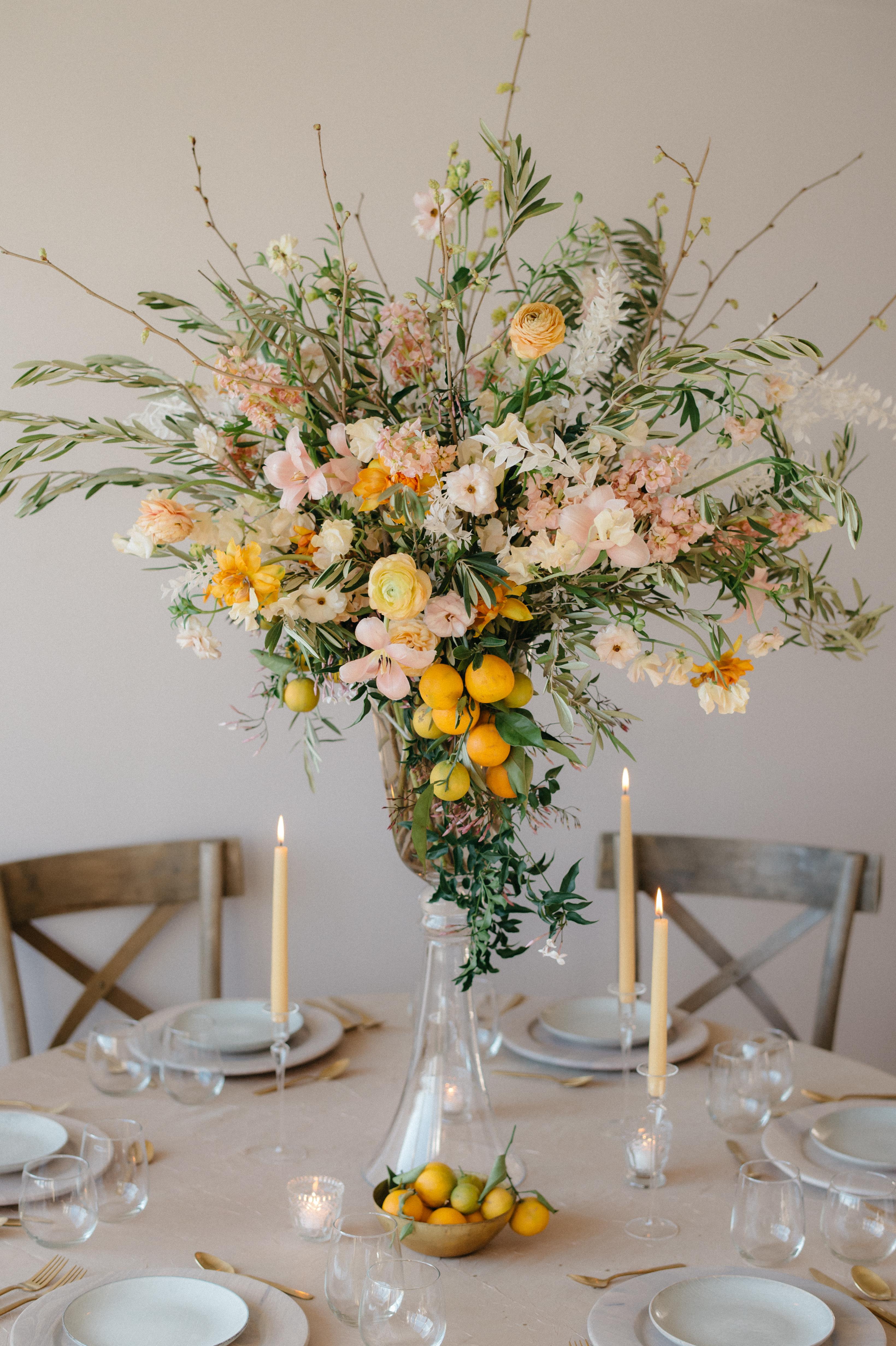 Lush Tall Florals in Elegant Vase