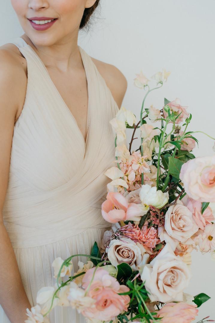 Lush, Romantic Neutral Wedding Bouquet
