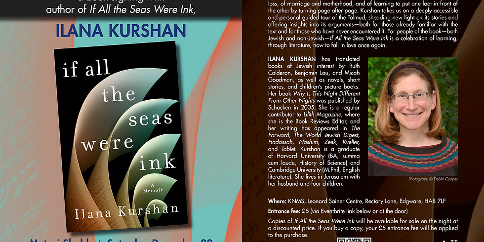 Reading and book signing with prizewinning author Ilana Kurshan.