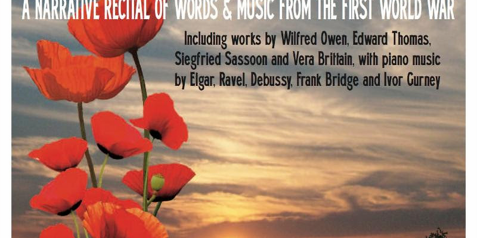 New London Event 'Never Such Innocence': a narrative recital of words and music from the First World War
