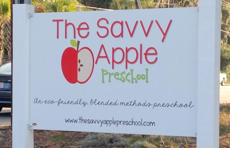 the savvy apple preschool sign starting a preschool