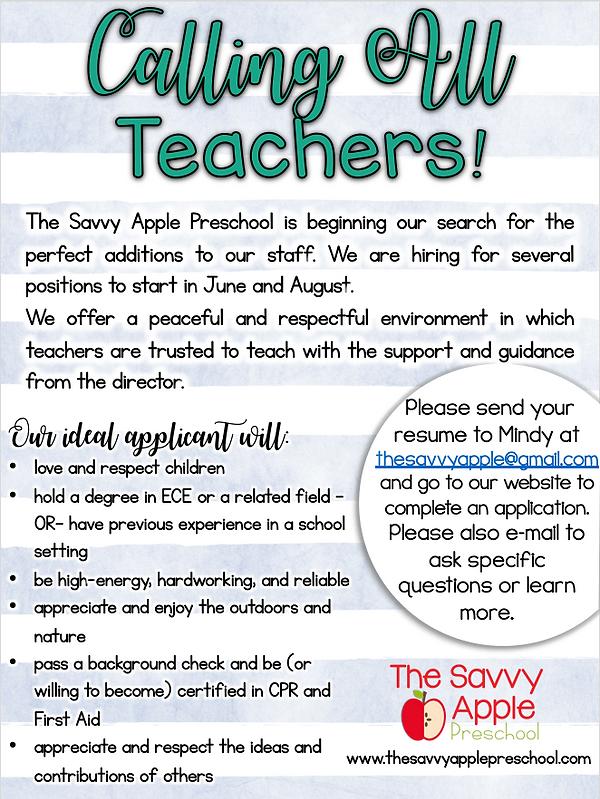 Preschool Hiring Beaufort Jobs