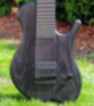 9-string baritone electric guitar - raato custom guitars raadotar - bare knuckle pickups custom 9 - hipshot hardware - swamp ash body - black guitar - custom kitara suomesta