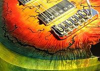 Lichtenberg Wood Burning - High-Gloss Filled Up Veins Option - Raato Custom Guitars