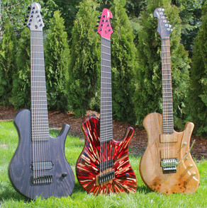 "Raadotar family grows! Including 7-string 27,99""-26,46"" multiscale guitar"