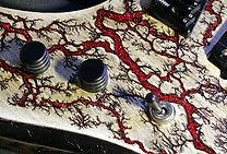 Lichtenberg Wood Burning - Pale Alder & Shiny Veins Option - Raato Custom Guitars
