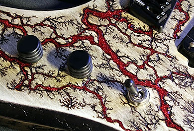 Raato Custom Guitars Special Lichtenberg Wood Burning finish on PenetRaatoR electric guitar
