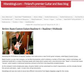 Kitarablogi Review: Raadotar 6 & Raadotar 7 Multiscale