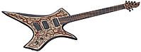 Raato Custom Guitars PenetRaatoR Multiscale Fanned Fret Electric Guitar with Lichtenberg Wood Burning Figures - Bare Knuckle Pickups Painkiller - Hipshot Products Inc hardware bridge - BloodRed Glitter Veins - Hiphot Grip-Lock tuning machines - Ultimate metal Guitar for Modern player