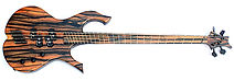 raato custom guitars raato bass 4-string multiscale bass guitar 36 34 - custom bass - electric bass guitar - Hipshot Solo Rail bridge - Hipshot Licensed Ultralite - Delano Pickup Systems - Delano MC4 FE precision bass pickups - dual p - double p - precision pickup on bridge position - reversed precision pickup - exotic ebony bass - custom design bass guitar - unique bass guitar - beautiful bass